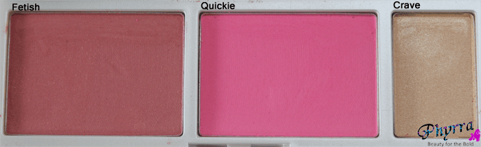 Urban Decay Face Case Anarchy Blushes and highlighter, swatches, review