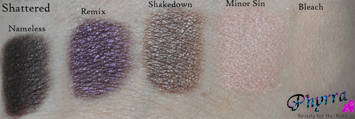 Urban Decay Face Case Shattered Eyeshadow Swatches and Review