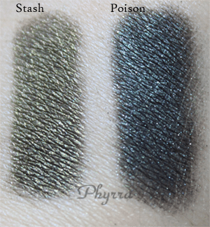 Urban Decay Stash, Poison, Swatches, Review