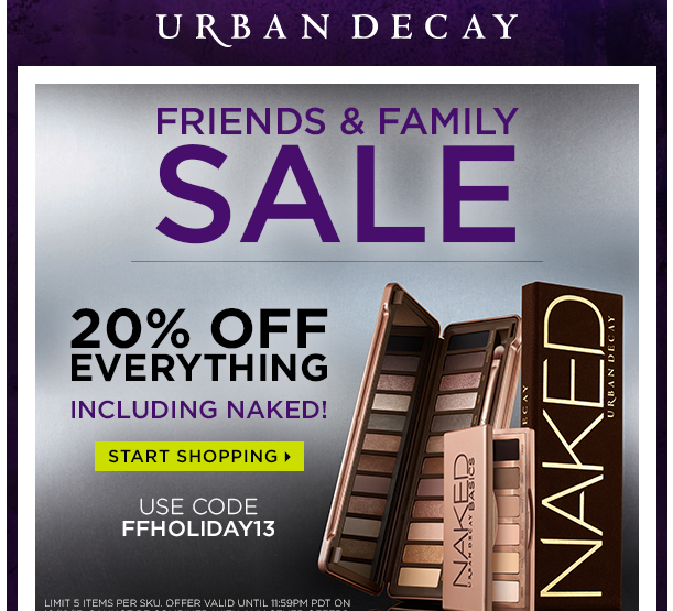 Save 20% with Urban Decay's Friends and Family Sale!