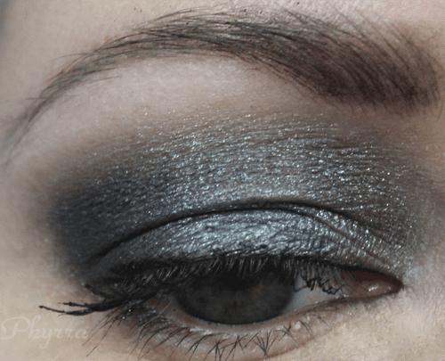 Wearing NARS Bad Behavior, deep pewter grey eyeshadow
