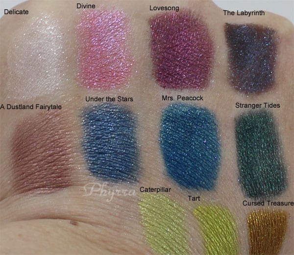 The Chequered Lily Apothecary Reiew, Swatches