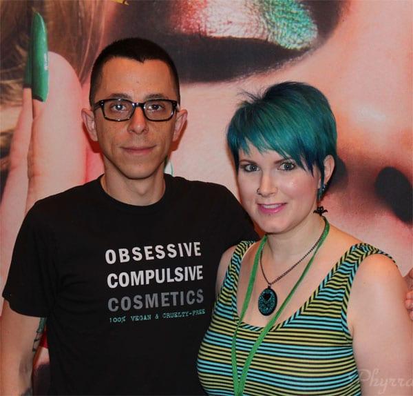Phyrra with David Klasfeld of OCC Makeup