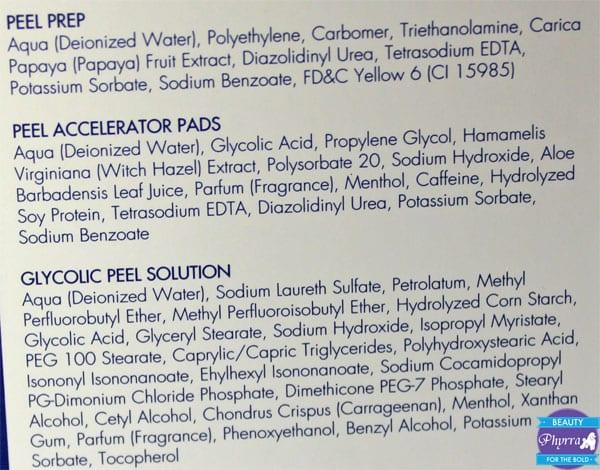 Ellen Lange Peel Ingredients