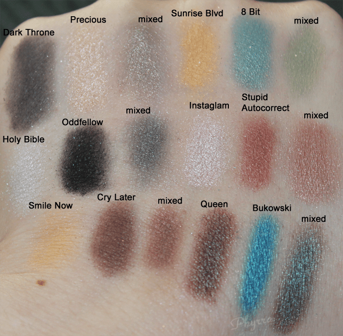 Kat Von D Dark Throne, Precious, Sunrise Blvd, 8 Bit, Swatches, Review