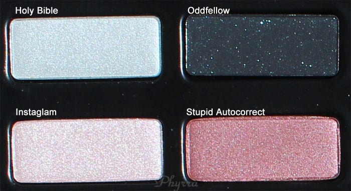 Kat Von D Holy Bible, Oddfellow, Instaglam, Stupid Autocorrect, Swatches Review