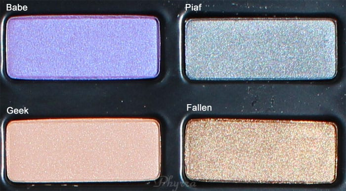 Kat Von D Babe, Piaf, Geek, Fallen, Swatches Review