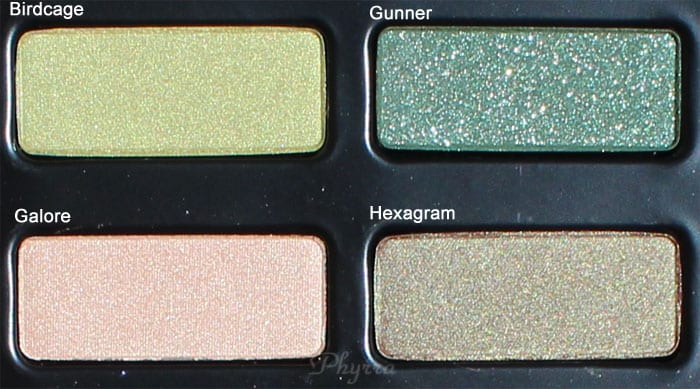 Kat Von D Birdcage, Gunner, Galore, Hexagram, Swatches, Review