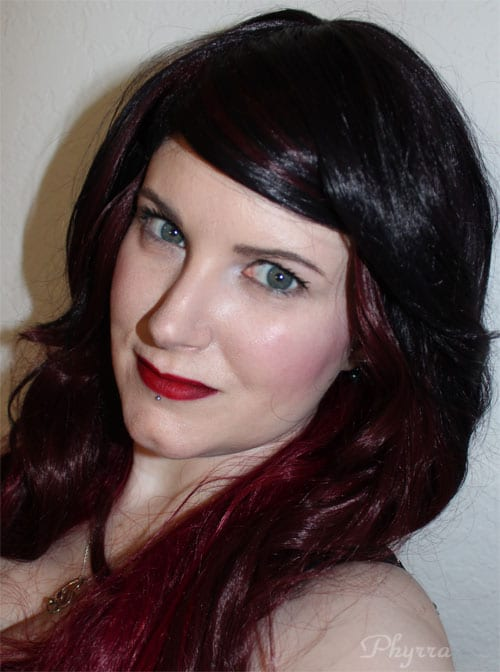 Wearing my Tokyo Crush Triflect Midnight Flame Wig