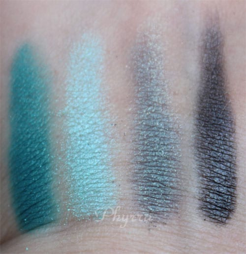 em Michelle Phan Shade Play Montego Bay Teals Palette swatches, review