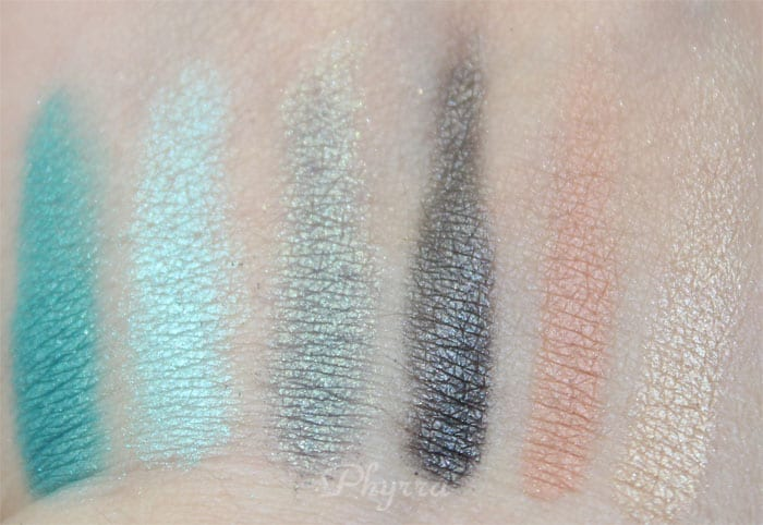 em Michelle Phan Shade Play Montego Bay Teals Palette Review, Swatches, Video