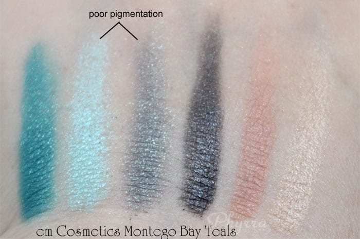 em Michelle Phan Shade Play Montego Bay Teals Palette swatches, review, video