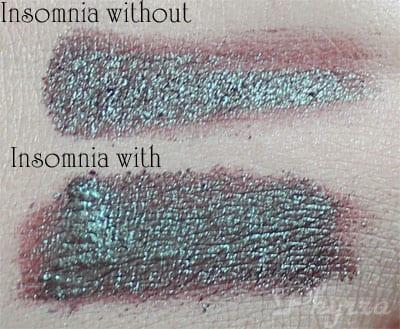 Using Makeup Geek Insomnia with e.l.f. Mist & Set