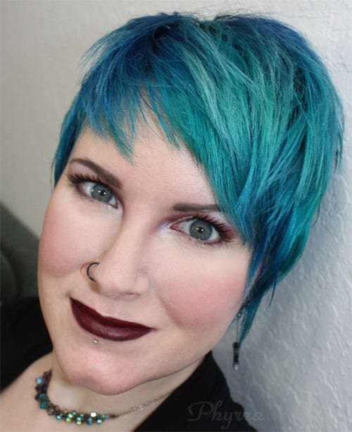 Wearing Melt 6six6 Lipstick on top of Nyx Black Lips