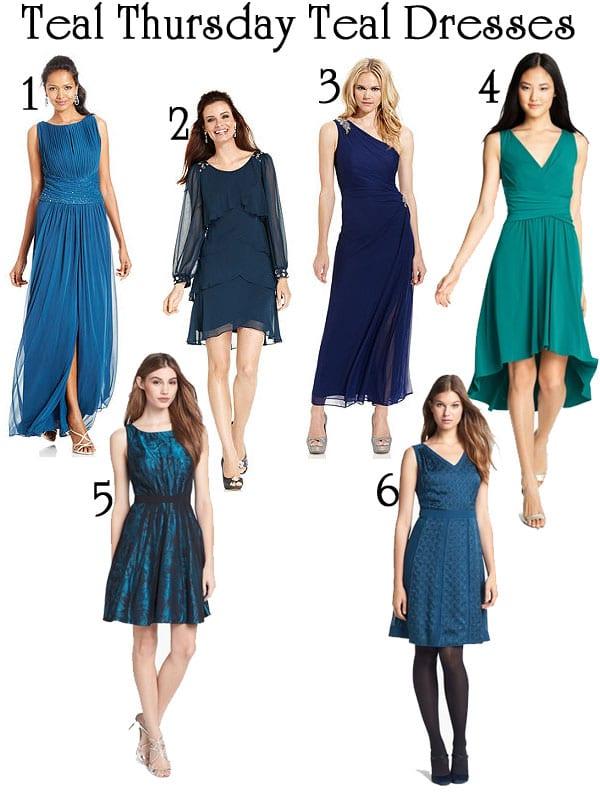 Teal Thursday Teal Dresses