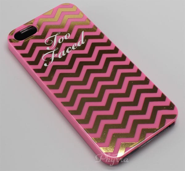 Too Faced Jingle All the Way Pink Gold Chevron Sephora iPhone 5 Case