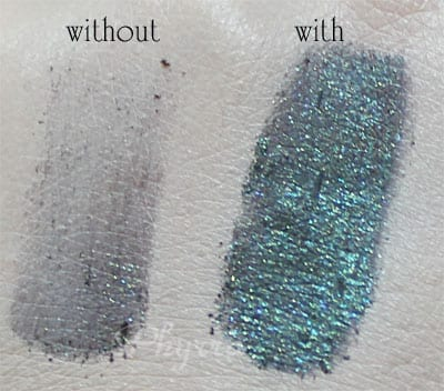 Using Urban Decay Zodiac on its own and with e.l.f. Mist & Set