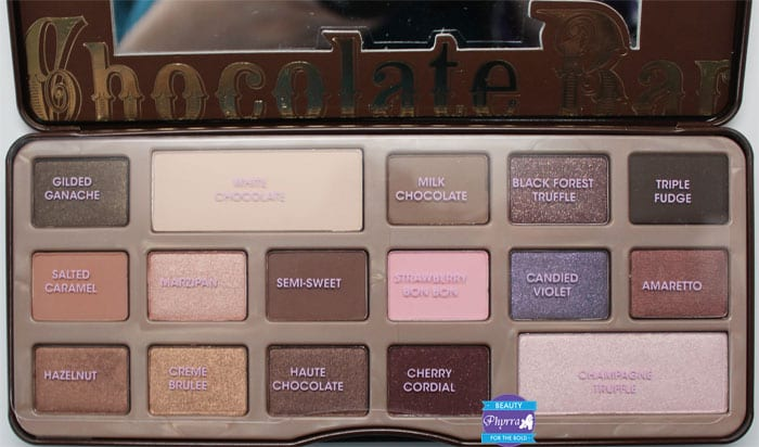 Too Faced Chocolate Bar Eye Palette Review and Swatches