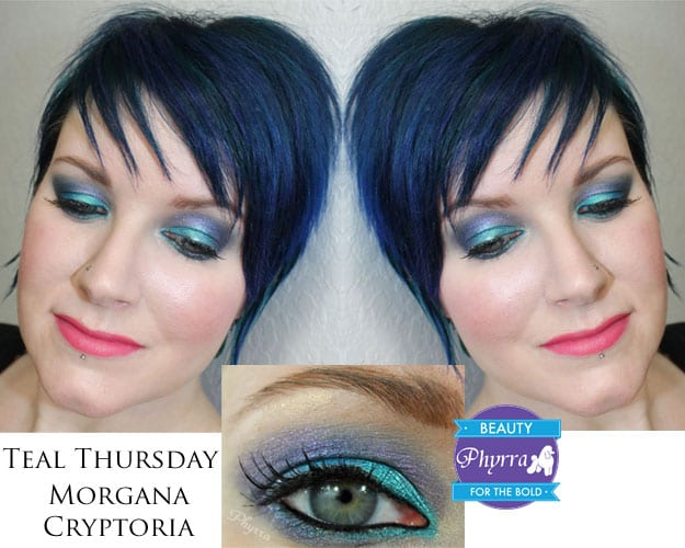 Teal Thursday Morgana Cryptoria Dr. Who Weeping Angels Don't Blink Makeup Eyeshadow Tutorial