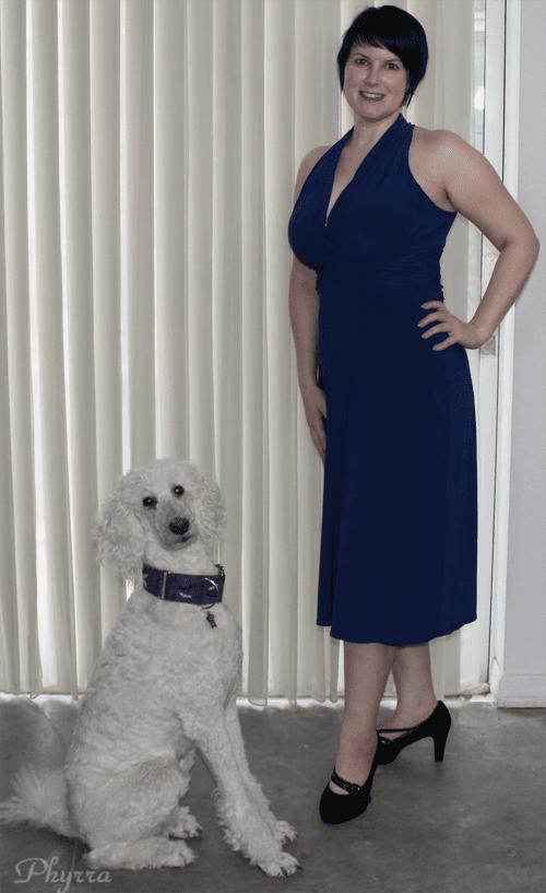 Evan Picone Petite Cobalt Dress