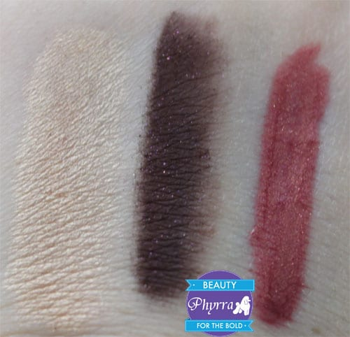 bareMinerals Smoky and Sultry Holiday 2013 Set, Sultry, Cherry Coco Truffle, Temptress, Swatches, Review, Video