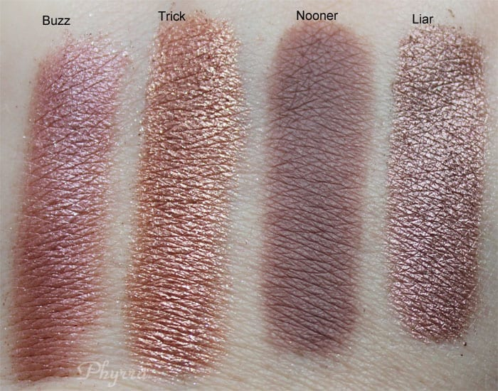 Urban Decay Naked 3 Buzz Trick Nooner Liar Swatches, Review, Video