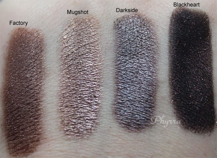 Urban Decay Naked 3 Factory Mugshot Darkside Blackheart Swatches Review Video