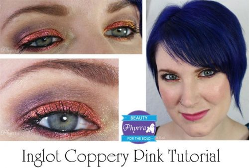 Inglot Coppery Pink Tutorial