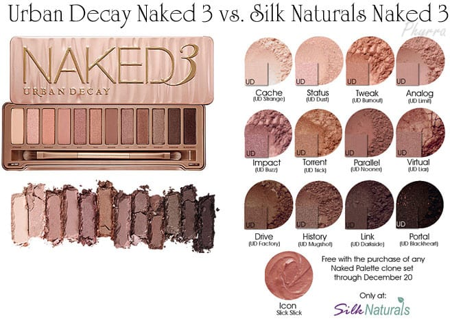 Urban Decay Naked 3 Silk Naturals Naked 3 Clone Dupe Swatches Review Comparison