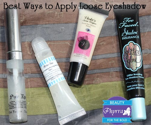Best Products to Apply Loose Eyeshadow and Glitter