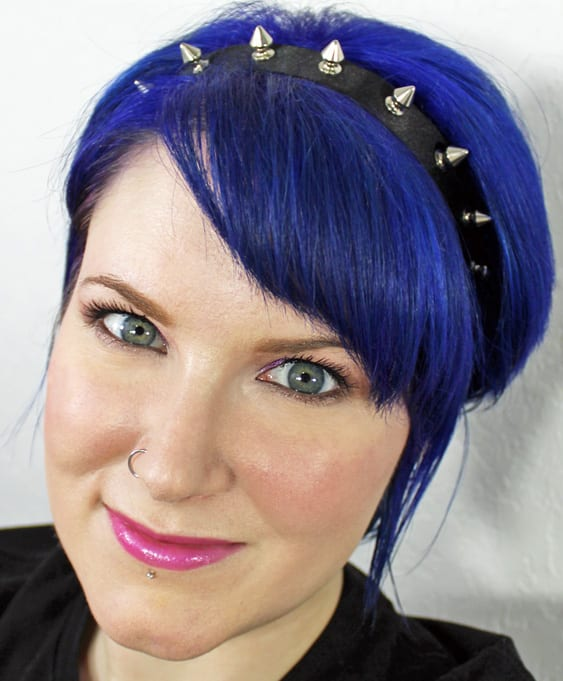 December Special Effects Blue Mayhem Hair