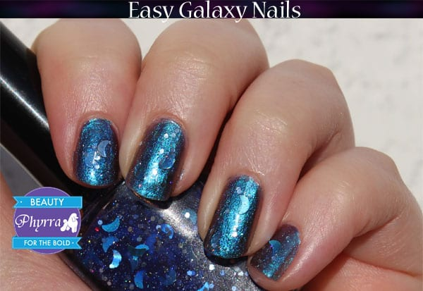 KBShimmer Shade Shifter and Literary Lacquers Goodnight Moon Galaxy Nails
