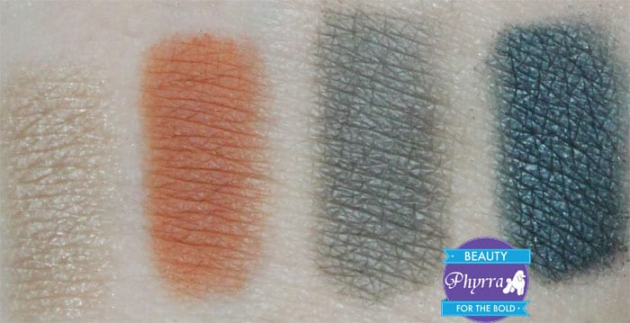bareMinerals The Elements Quad Air Fire Earth Water Review and Swatches