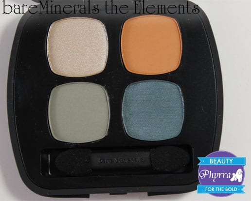 bareMinerals The Elements Quad Review and Swatches