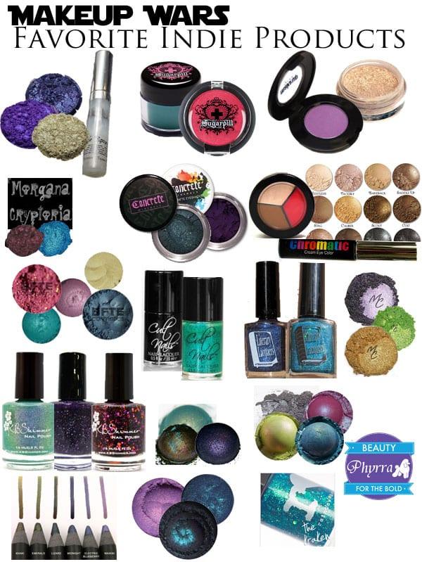 Makeup Wars Favorite Indie Products