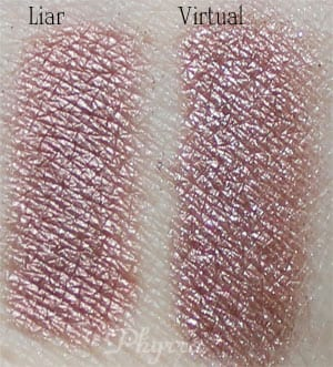 Urban Decay Liar vs. Silk Naturals Virtual Clone Dupe Swatches Review