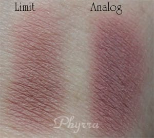 Urban Decay Limit vs. Silk Naturals Analog Clone Dupe Swatches Review