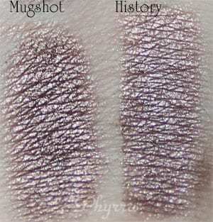 Urban Decay Mugshot vs. Silk Naturals History Clone Dupe Swatches Review