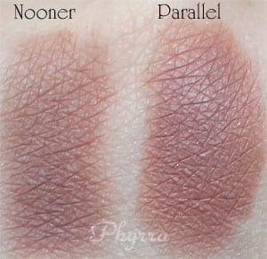 Urban Decay Nooner vs. Silk Naturals Parallel Clone Dupe Swatches Review