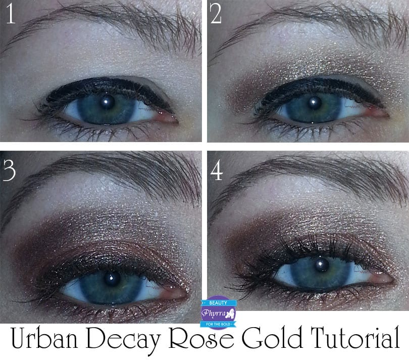 Urban Decay Naked 3 Rose Gold tutorial