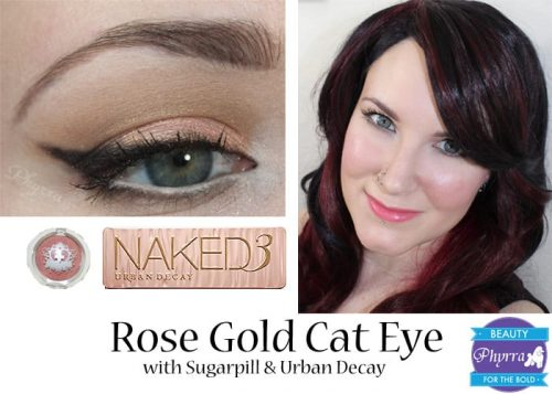 Rose Gold Cat Eye Tutorial
