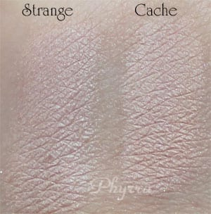 Urban Decay Strange vs. Silk Naturals Cache, Dupe, Clone Swatches, Review