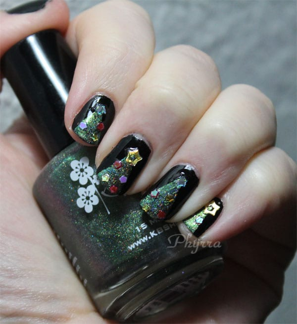 Cult Nails Nevermore with KB Shimmer Pretty in Punk