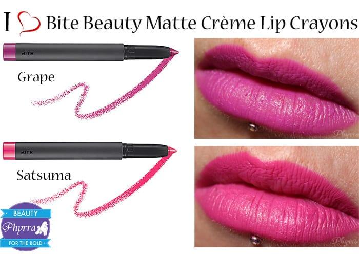 Bite Beauty Matte Creme Lip Crayons Review