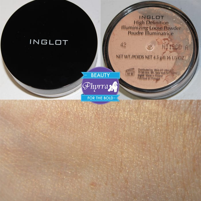Inglot HD Illuminizing Powder 42 Swatches Review Video