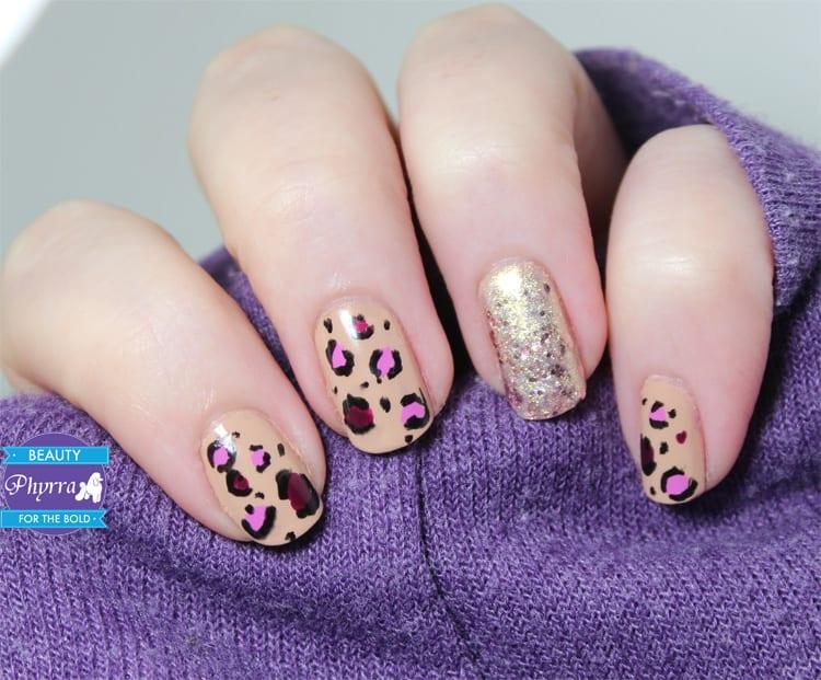 Milani Valentine's Day Leopard Nail Art