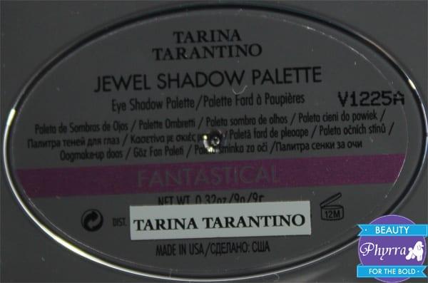 Tarina Tarantino Fantastico Palette Review Swatches