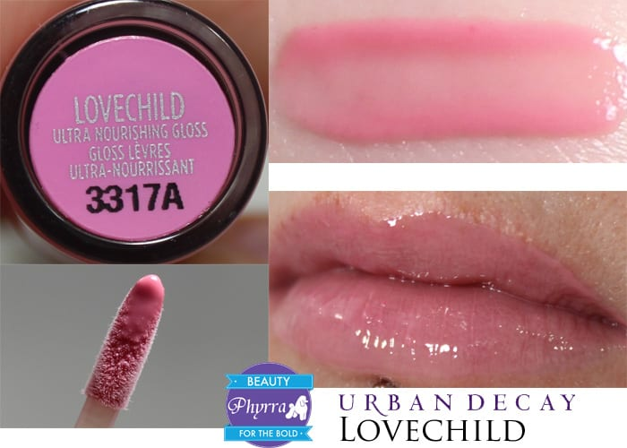 Urban Decay Naked Ultra Nourishing Lipgloss Lovechild Swatch Review