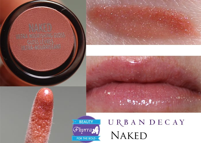 Urban Decay Naked Ultra Nourishing Lipgloss Naked Swatch Review