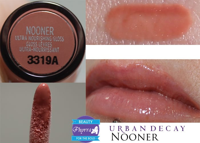 Urban Decay Naked Ultra Nourishing Lipgloss Nooner Swatch Review